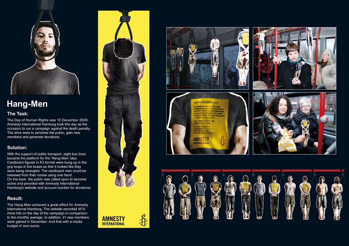 Hang-Men Aktion Amnesty International | VIRALBUZZ